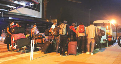 Returnees from Philippines and Namibia