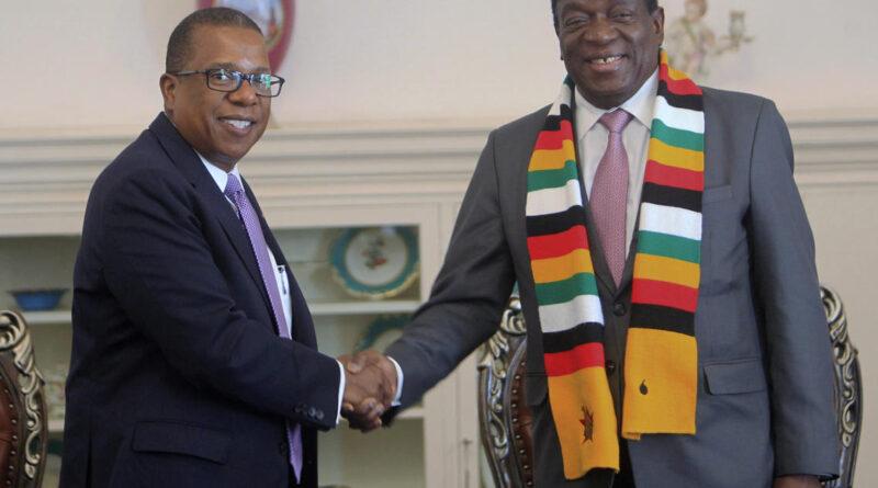 Ambassador Nichols and Mnangagwa