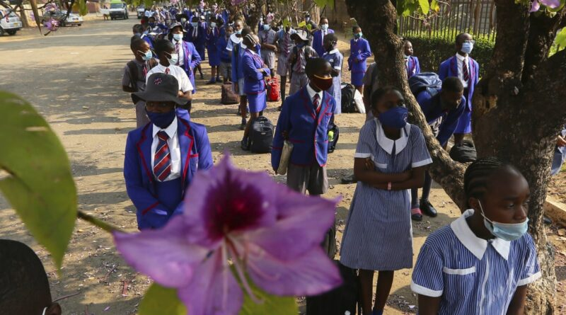 Zimbabwe School Children Social Distancing